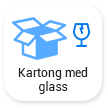 Kartong med glass